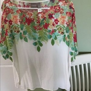 Chico's print side tie top